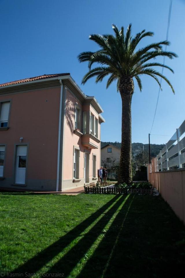 Esta casa de 1955 restaurada en 2013 y desvinculada del fenómeno migratorio es un buen ejemplo de la expansión del uso de la palmera canaria como planta decorativa con el paso del tiempo.