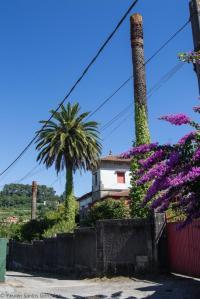 Se yergue esta vivienda en Cabral, junto a la casa del Colegio Vistalegre, que también tenía palmeras canarias. Diseñada en un estilo regionalista, alternando sus paños entre la sillería y el encalado en blanco