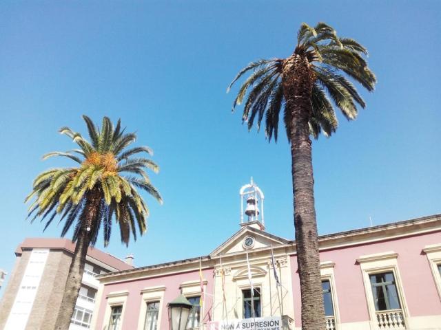 El autor del diseño es el arquitecto Domingo Rodríguez Sesmero. El edificio, de estilo ecléctico, sigue unas líneas sobrias, academicistas y clasicistas.